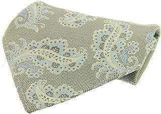 David Van Hagen Mens Two-Toned Paisley Silk Handkerchief - Sand