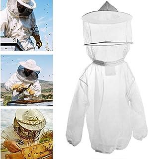 Nuluxi Imkerjacke mit Hut Imkerbekleidung Imker Bienenzüchter Professionel Schutzbekleidung mit Reißverschluss Unisex Bienenschutz Hut Bienenanzug Geeignet für Bienenzüchter und Bee Keepers Weiß