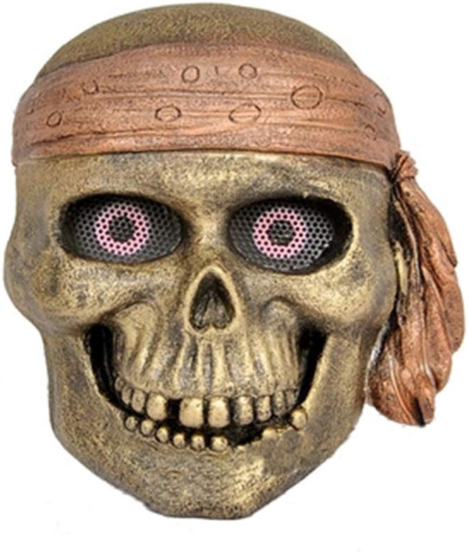YaPin Halloween Kostüm Glas Stahl Maske Piratenknig CS Feldmaske