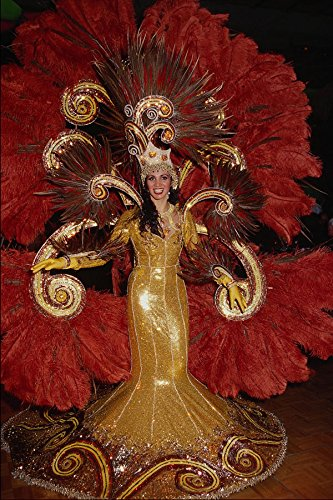 690030 Kostuum Voor Braziliaanse Carnaval A4 Photo Poster Print 10x8