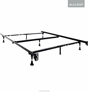 MALOUF Structures Heavy Duty Adjustable Metal Bed Frame with 7 Legs, Center Support and Glides Only - (Queen, Full XL, Full, Twin XL, Twin)