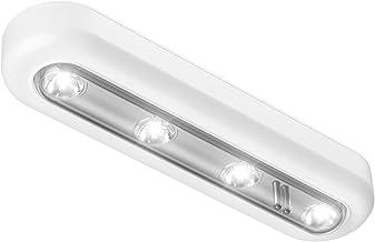 OxyLED kastverlichting touch licht 4 LED Tik op licht, stick overal licht drukken, touch sensor LED nachtlampje, trapverli...