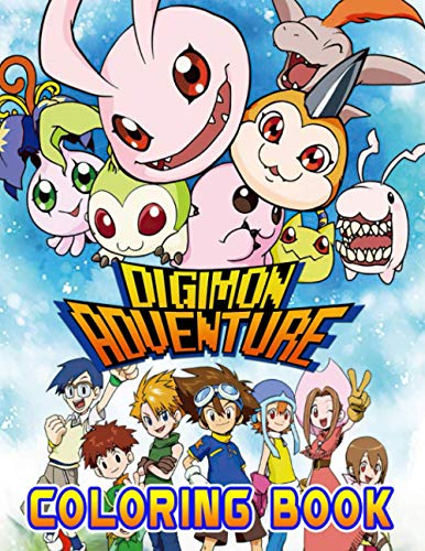 Digimon Adventure Coloring Book: An Interesting Coloring Book For Kids To Relax And Relieve Stress. Many Images Of Digimon Adventure