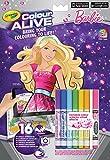 Crayola Color Alive - Kit de Loisirs Créatifs - Barbie