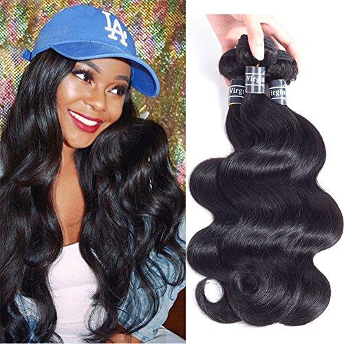 Amella Hair Brazilian Virgin Hair Body Wave 3 Bundles 300g 12