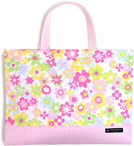 Lesson bag picture book picture book bag, bag quilting type flower Light made in Japan (japan import)