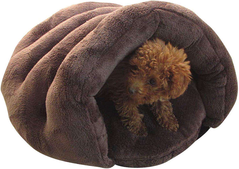 ADSRO Dog Cat Bed Padded, Detachable Dog Sofa Super Soft Warm Pet Kennel Sleeping Bag Sleep Zone Persian Cat Rabbit Small Animals Shearling Bed