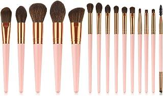 Yansyuionghzs Blush Brush, 15 Pcs Pink/Rose Gold Makeup Brushes Set Make Up Brush Tools Kit