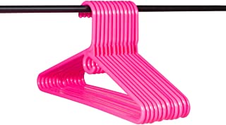 Neaties American Made Pink Super Heavy Duty Plastic Hangers, Plastic Clothes Hangers Ideal for Everyday Use, Clothing Standard Hangers, 12pk