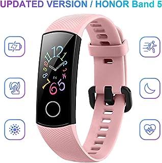 HONOR Band 5 Smartwatch, Pulsera Actividad Inteligente Impermeable IP68 con Pulsómetro, Monitor de Actividad Deportiva, Fitness Tracker con Podómetro, Rosado
