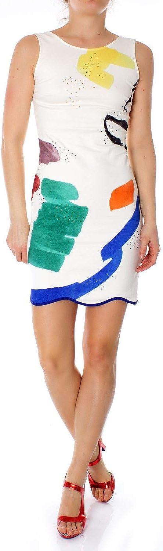 Desigual Women's 19SWVK20WHITE White Cotton Dress