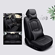 MGE Luxurious Five-Piece Car Seat Cover,Set - Easy to Clean Rear Row of Seats Adjustable, 5 Colors Optional (Color : E)