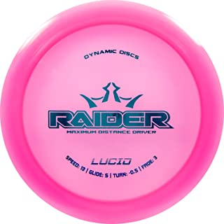 Dynamic Discs Lucid Raider Disc Golf Driver | 170g Plus | Maximum Distance Frisbee Golf Driver | Stamp Color Will Vary