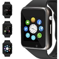 WJPILIS Smart Watch Touchscreen Bluetooth Smartwatch Wrist Watch Sports Fitness Tracker with SIM...