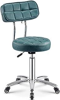 Chair Bar Stool PU Leather Round Rolling Stool With Back Swivel Massage Salon Stool Adjustable Hydraulic Gas Lift Bar Stoo...