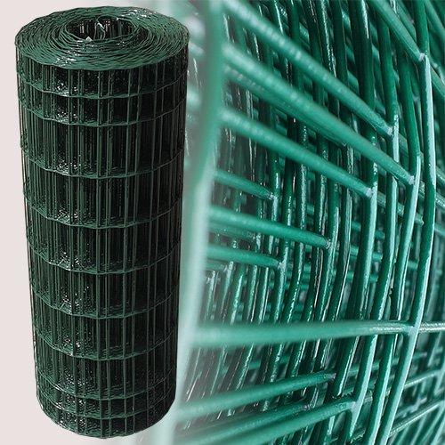 25 Meter Maschendrahtzaun Gitterzaun Drahtzaun grün Höhe 80 cm Maschenweite 5 x 10 cm Gartenzaun