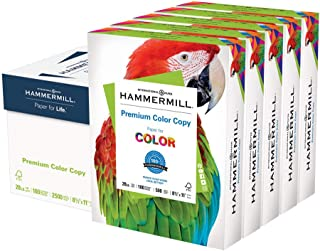 Hammermill Premium Color Copy 28lb Copy Paper, 8.5x11, 5 Ream Case, 2,500 Sheets, Made in USA, Sourced From American Family Tree Farms, 100 Bright, Acid Free, Premium Color Copy Printer Paper, 102450C