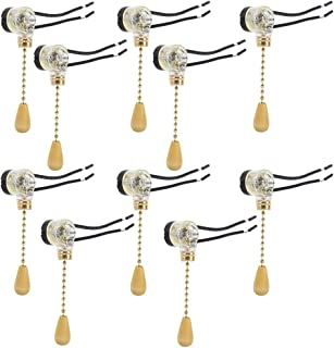 10 Pcs Ceiling Fan Wall Light Replacement Pull Chain Cord Switch Control By Crqes