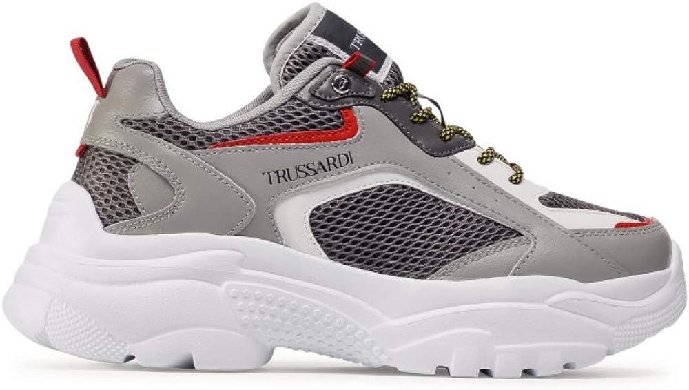 Trussardi sneackers,scarpe sportive da uomo,in pelle CITRON MIX PU