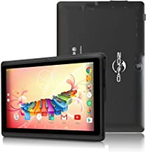 ZONKO 7 inch Tablet, Android 8.1 Quad Core 1024×600 Display, Dual Camera 2MP, 1GB RAM + 8GB ROM, Built-in WiFi and Bluetooth, Black