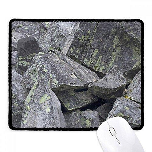 DIYthinker donkere stenen stukjes behang crackles mos anti-slip muismat spel office zwart Titched Edges gift