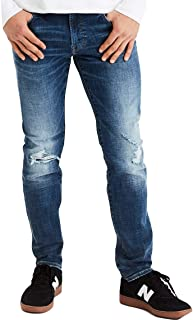 American Eagle Mens 01164370 Ne(X) t Level Slim Straight Jean, Medium Destroy (31x32)