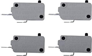 KW3A Microwave Oven Door Micro Switch for LG Normally Close 16A 125V/250V (Pack of 4)