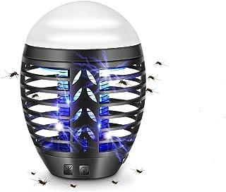 TDW - Lámpara antimosquitos eléctrica de exterior, repelente de mosquitos para camping, lámpara de exterior portátil con mosquitera, 2 en 1, lámpara LED