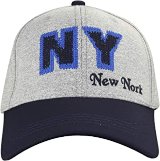MINAKOLIFE Washed Newyork Fitted Casual Rookies Patch Precurved Baseball Cap