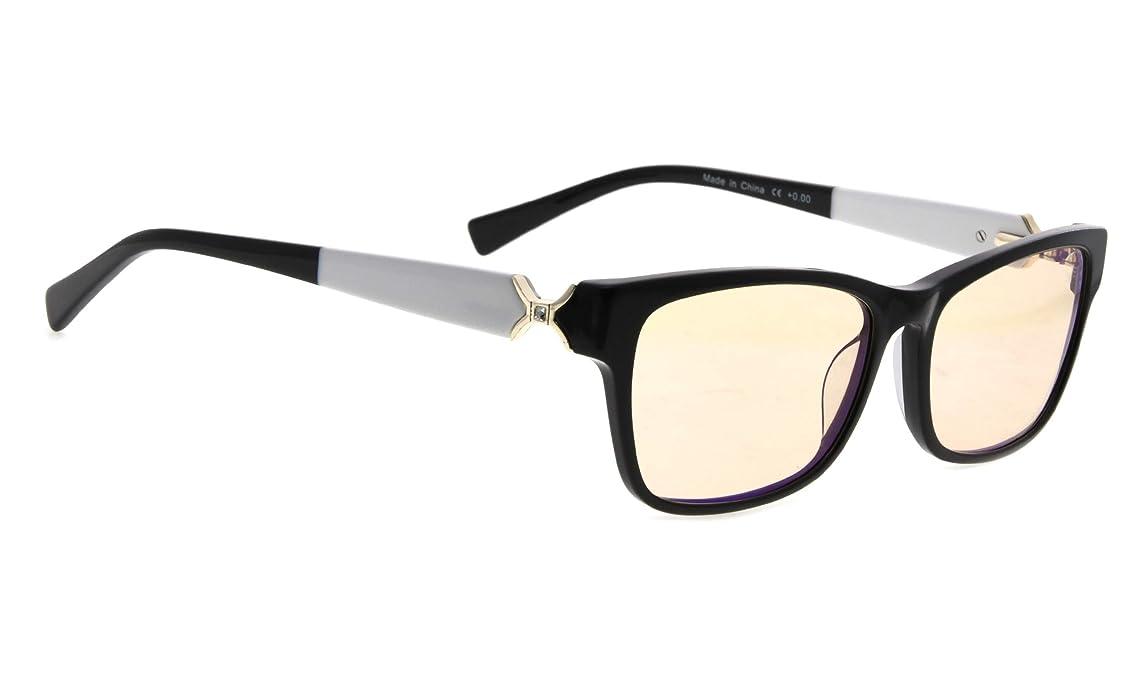 Blue Light Filter Computer/Reading Glasses Acetate Frames Amber Tinted Lens for Women ogot9552370012