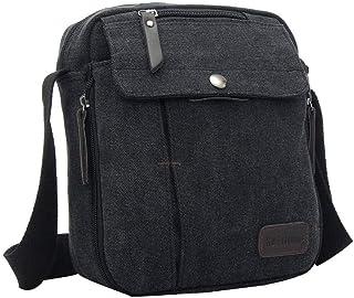 YiyiLai Men Canvas Leisure Outdoor Travel Crossbody Bag Messenger Bag
