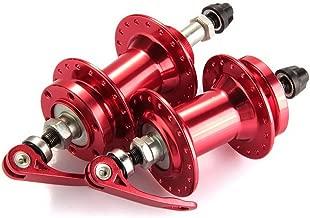 zimo Pair Bicycle Bike Mountain MTB Disc Brake Hub Set 36 Hole Metal Red