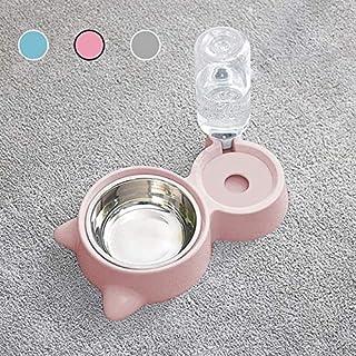 【3色選択:ピンク】ペットボウル PETS LOVE 猫えさ 皿 猫用食器・ボウル 自動給水 犬猫用 ステンレス製 小動物 フードボウル