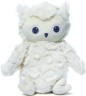 Baby GUND Greary Owl Stuffed Animal Plush Rattle, White, 5.5