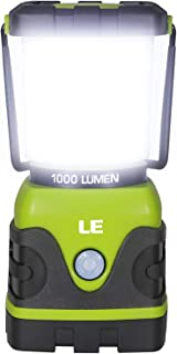 Best LE LED Camping Lantern, Battery Powered LED with 1000LM, 4 Light Modes, Waterproof Tent Light, Perfect Lantern Flashlight for Hurricane, Emergency, Survival Kits, Hiking, Fishing, Home and More Review