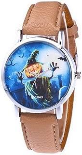 SuSip Halloween Decorations Women Quartz Watch Adjustable PU Leather Belt Wristwatch Sports Couple Gifts New