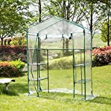 didatecar Mini Walk-in Greenhouse,Made By PVC Material/56.30 28.74 76.77 Inch/Waterproof And UV-resistant/Great For Outdoor,Indoor Gardens, Patios, And Backyards, landmark usual