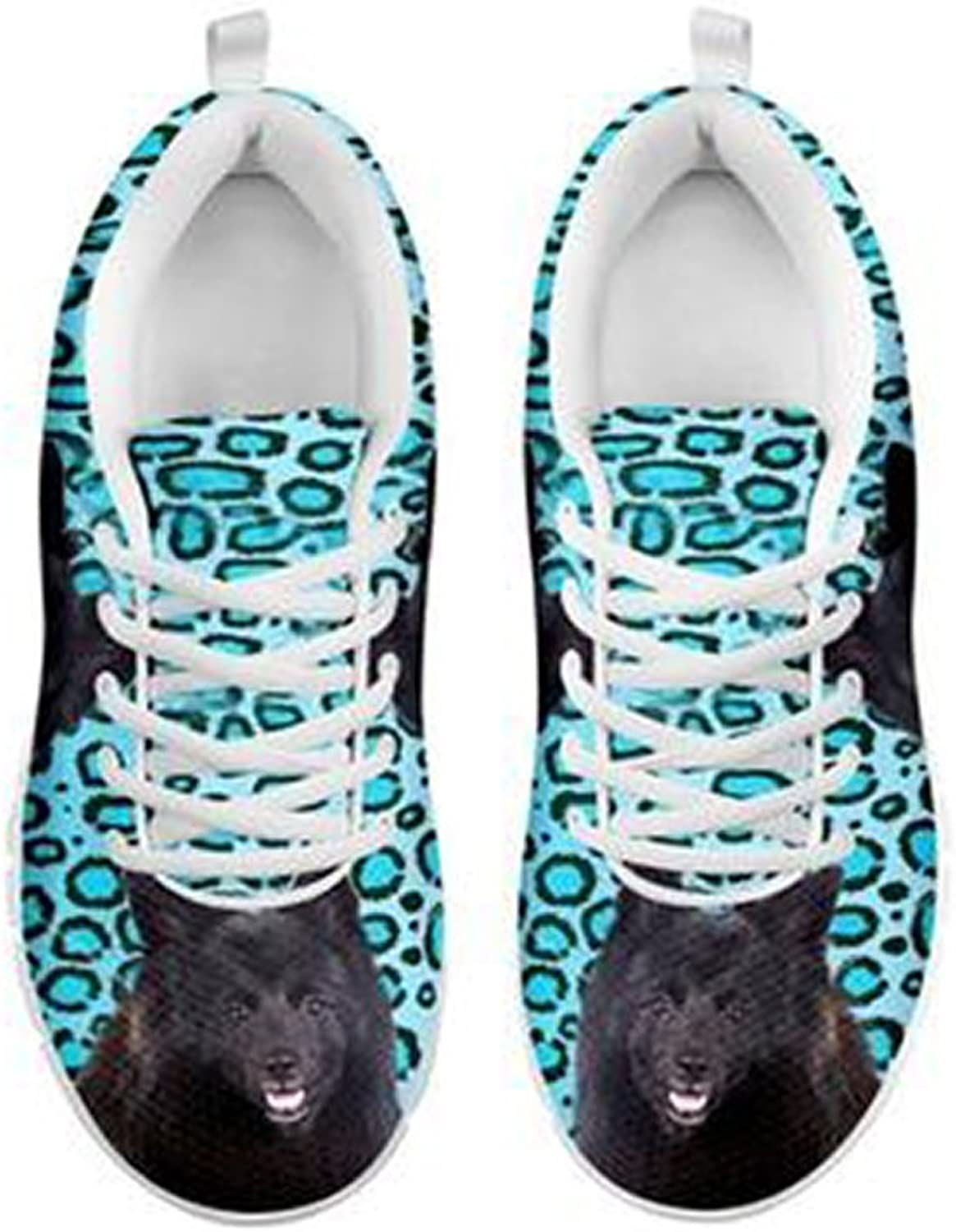 shoestup Cute German Spitz Dog Print Men's Casual Sneakers White