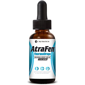 Nutratech Atrafen Thermodrops – Powerful Liquid Diet and Weight Management Aid. Dietary Supplement Diet Drops. 2 Fl. Oz.