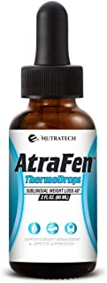 Nutratech Atrafen Thermodrops – Powerful Sublingual Diet Drops and Fat Burner Provides Fast Acting Appetite Suppression and Weight Loss.