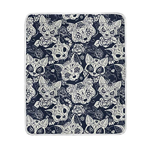 FULUHUAPIN Manta de forro polar gótico para adultos y niñas, de fácil cuidado, lavable a máquina, suave manta de 50 x 60 pulgadas 2030234