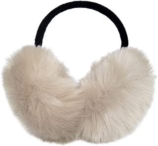 LETHMIK Womens Faux Fur Earmuffs Foldable Big Winter Outdoor Ear Warmers