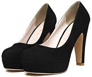 e1e74290bba Hangpuzhend Woman Pumps Thick Heel Shoes ol high-Heeled Shoes Female The  Trend Ultra high