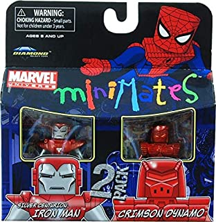 Marvel Minimates Series 36 Mini Figure 2Pack Silver Centurion Crimson Dynamo