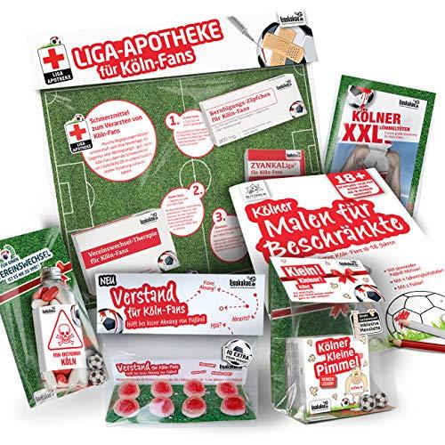 Köln Trainingshose ist jetzt KLEINE PIMMEL Set 2: MAXIMAL-Spass-Paket by Ligakakao.de rot-weiß Herren Erima Jogging lauf-Hose Trainingsanzug