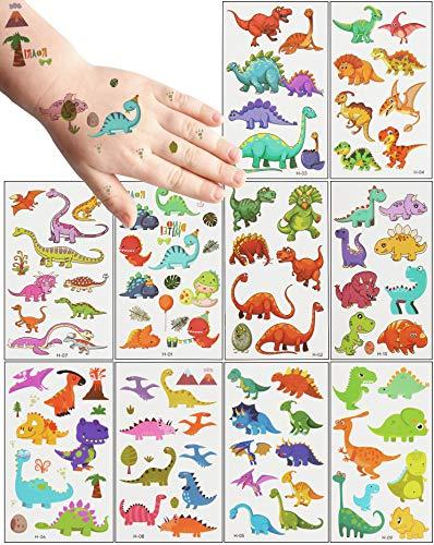 20 Hojas De Tatuajes Temporales NiñOs, TemáTica Dinosaurio Tatoos Infantiles Impermeable Respetuoso Con La Piel,Tatuajes NiñOs Regalos De CumpleañOs Para NiñOs, Festivales, Suministros Para Fi