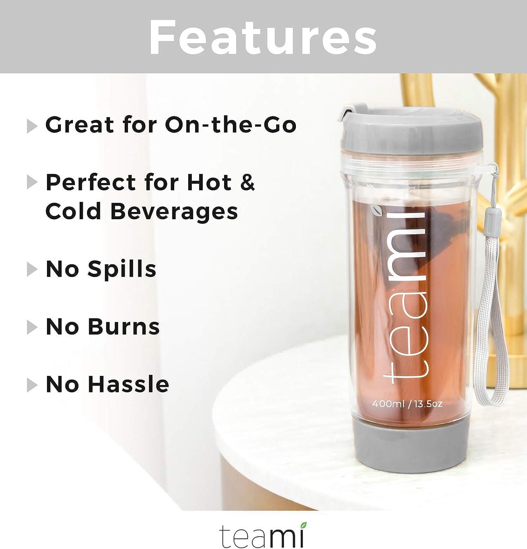 Teami Blends Teami Tumbler Gold 13.5 oz 400 ml Tumbler /& Water Glass