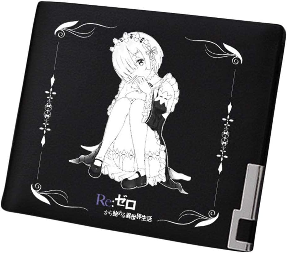 Gumstyle Re:Life In A Different World From Zero Anime Artificial Leather Wallet Billfold Money Clip Bifold Card Holder 21