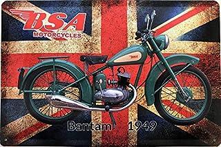 Deko7 Blechschild 30 x 20 cm BSA Motorcycles Bantan Baujahr 1949