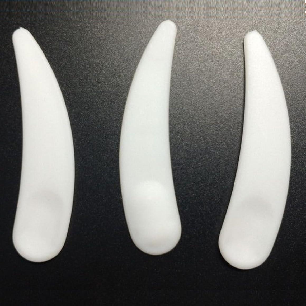 10Pcs White Mini Curved Cosmetic Spatula Scoop Makeup Mask Spatula Cream spoon Plastic Spoon